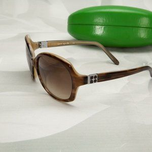 Kate Spade Colby Brown Round Oversized Sunglasses